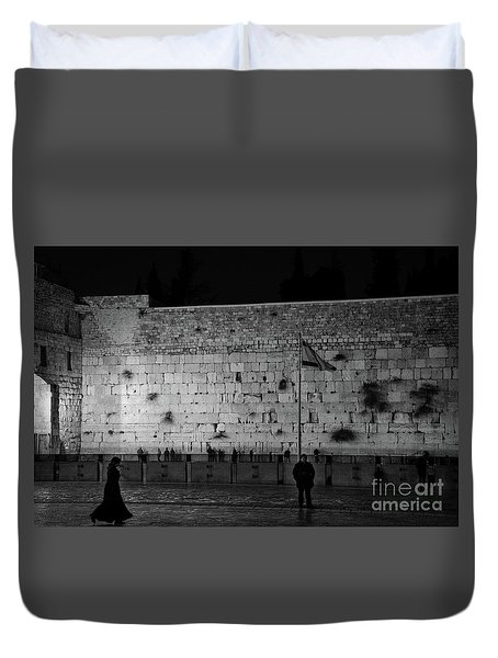 The Western Wall, Jerusalem Duvet Cover
