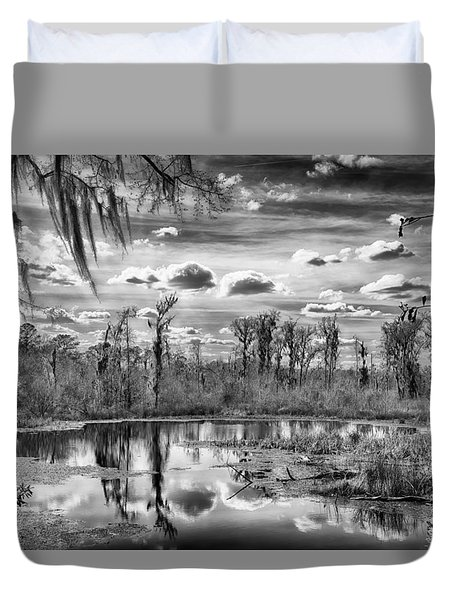 Duvet Cover featuring the photograph The Wetlands by Howard Salmon