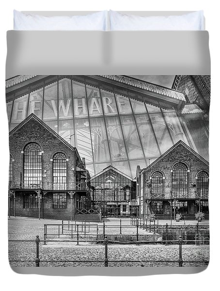 The Wharf Cardiff Bay Mono Duvet Cover