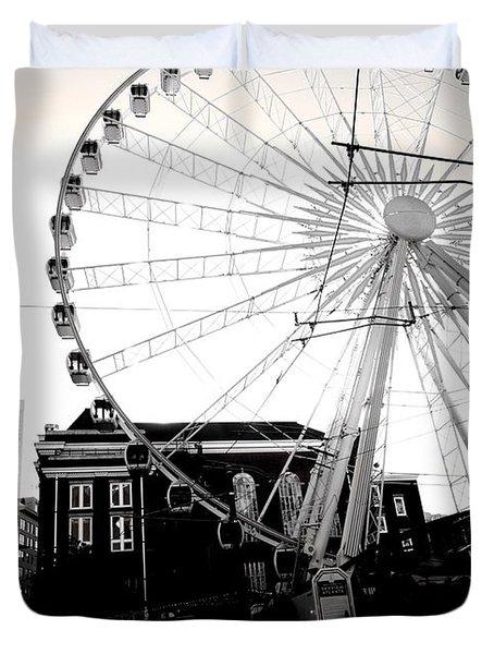 The Wheel Black And White Duvet Cover