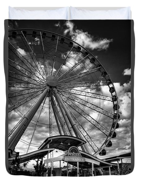 The Wheel Entrance In Black And White Duvet Cover