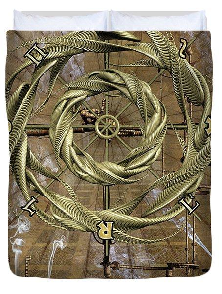 The Wheel Of Fortune Duvet Cover by John Edwards