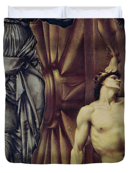 The Wheel Of Fortune Duvet Cover by Sir Edward Burne Jones