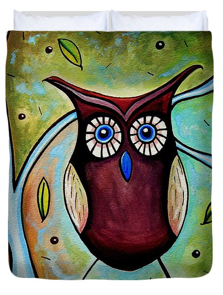 The Whimsical Owl Duvet Cover