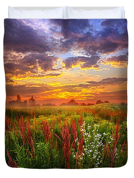 The Whispered Voice Within Duvet Cover by Phil Koch