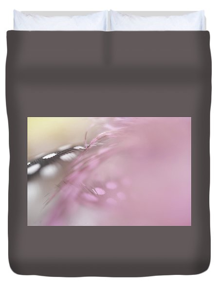 Duvet Cover featuring the photograph The Whispers In The Morning. Angelic Series  by Jenny Rainbow
