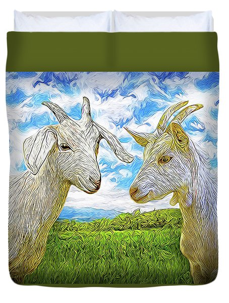 The Whispers Of Goats Duvet Cover
