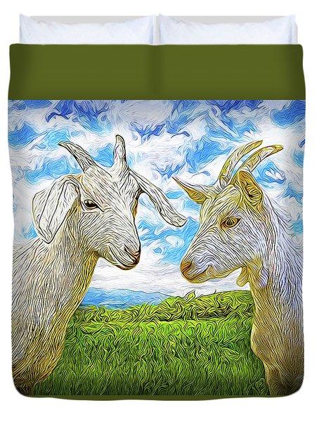 The Whispers Of Goats Duvet Cover