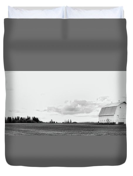 The White Barn Duvet Cover by Rebecca Cozart