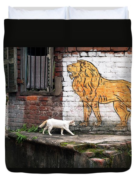 The White Cat Duvet Cover