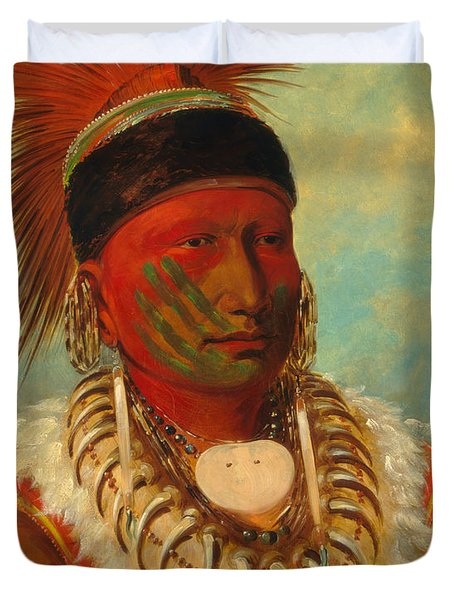 The White Cloud, Head Chief Of The Iowas Duvet Cover