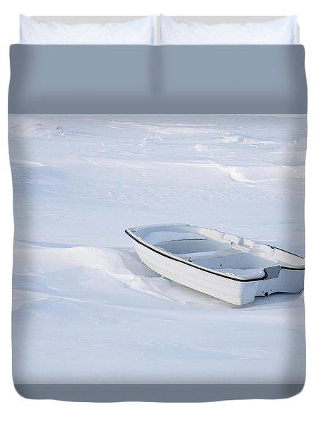 The White Fishing Boat Duvet Cover