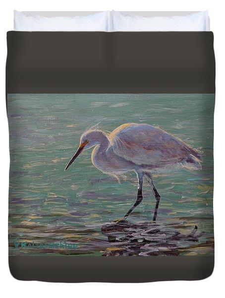 The White Heron Duvet Cover