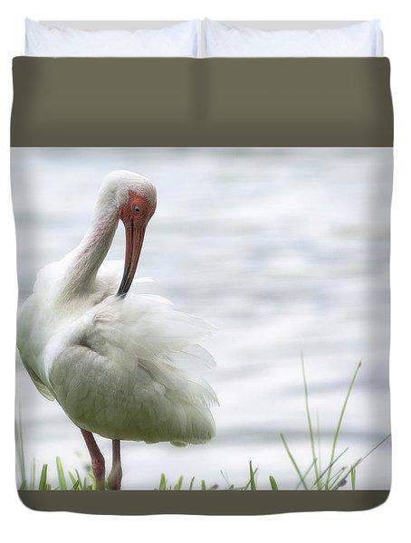 The White Ibis  Duvet Cover by Saija  Lehtonen