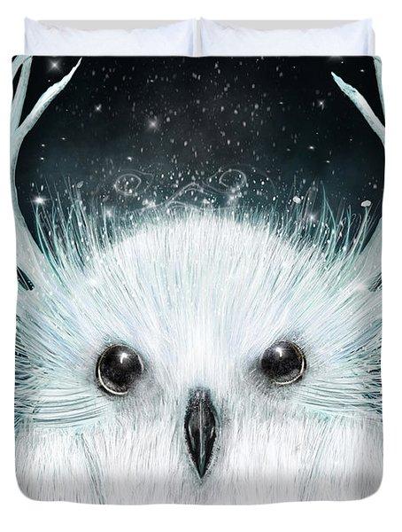 The White Owl Duvet Cover