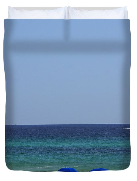 The White Panama City Beach - Before The Oil Spill Duvet Cover by Susanne Van Hulst