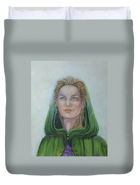 The White Rose Queen Duvet Cover