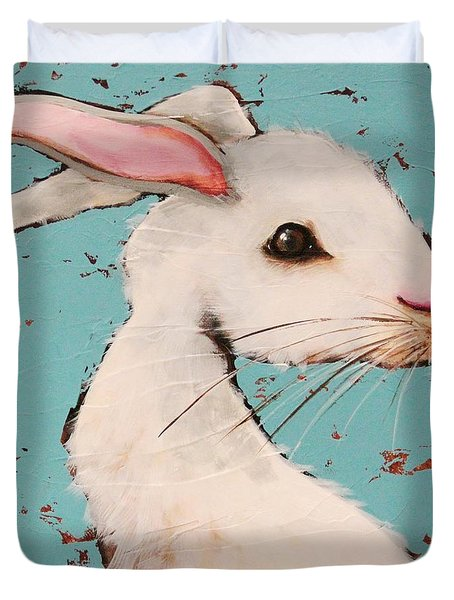 The White Rabbit Duvet Cover by Lucia Stewart