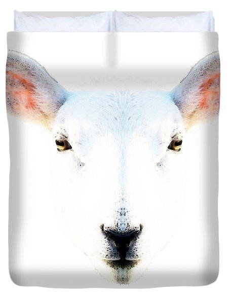 The White Sheep By Sharon Cummings Duvet Cover