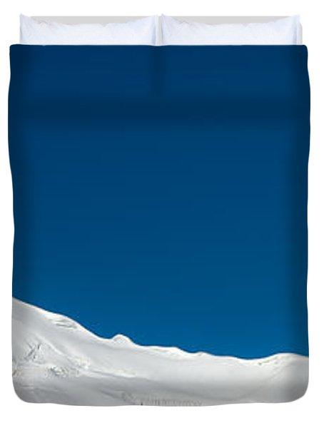 The White Summit Duvet Cover by Konstantin Dikovsky