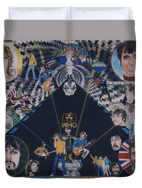 The Who - Quadrophenia Duvet Cover by Sean Connolly
