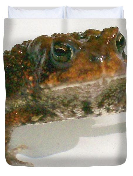Duvet Cover featuring the digital art The Whole Toad by Barbara S Nickerson