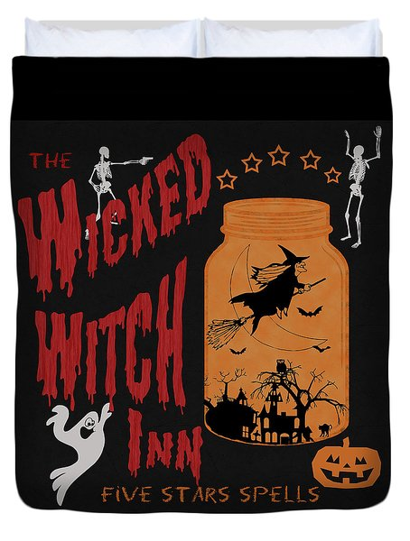 The Wicked Witch Inn Duvet Cover by Georgeta Blanaru