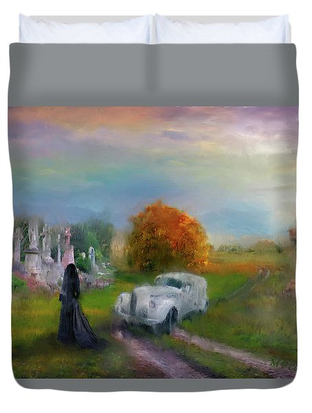 The Widow Duvet Cover by Michael Cleere