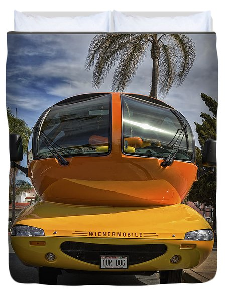 The Wienermobile Duvet Cover