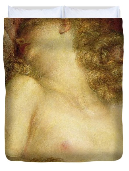 The Wife Of Plutus Duvet Cover by George Frederic Watts