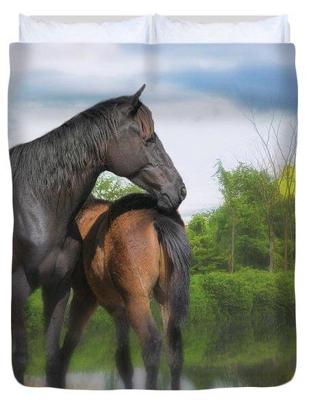 The Wild Horses Of La Chura Trail Duvet Cover