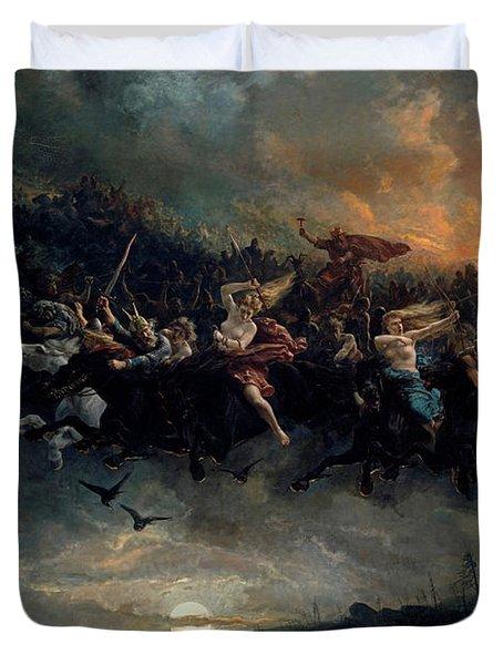 The Wild Hunt Of Odin Duvet Cover
