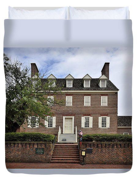 The William Paca House - Annapolis Maryland Duvet Cover by Brendan Reals