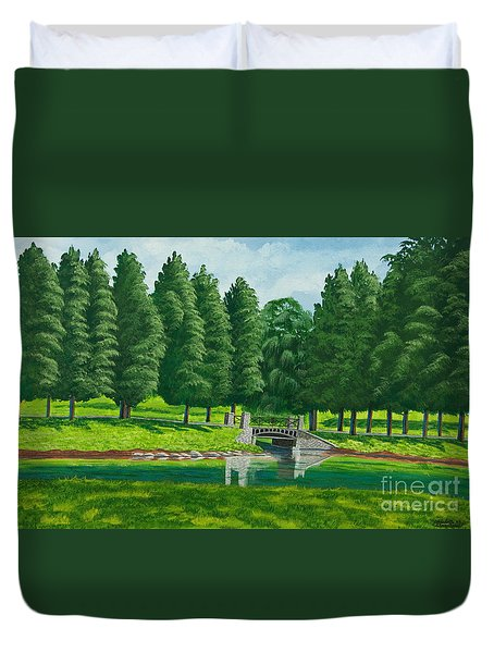 The Willow Path Duvet Cover by Charlotte Blanchard