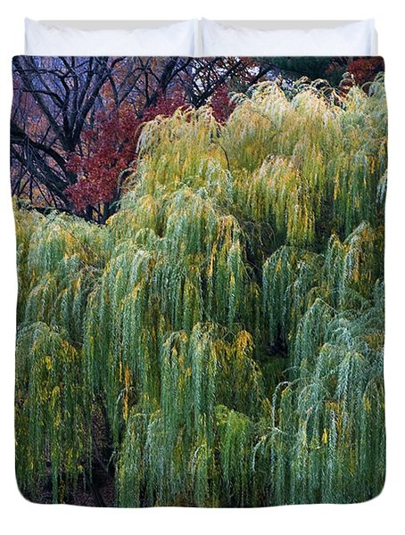 The Willows Of Central Park Duvet Cover