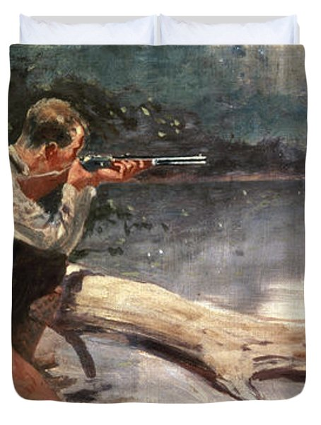 The Winchester Duvet Cover by Frederic Remington