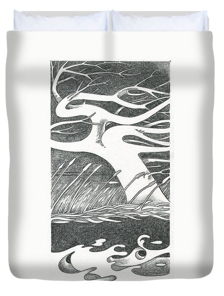 The Wind Duvet Cover