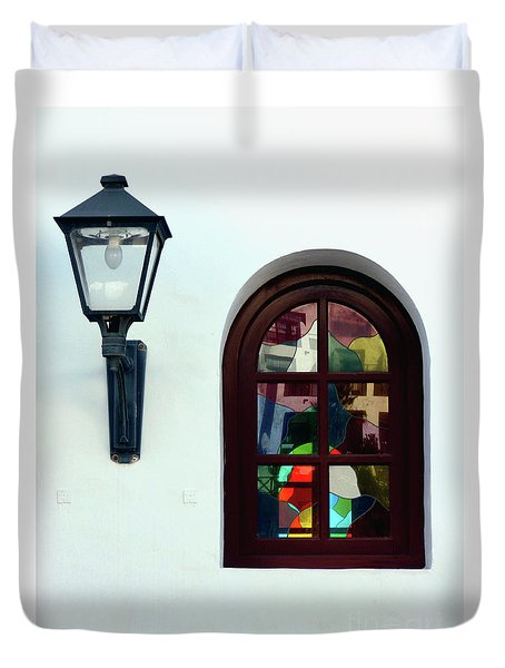 The Window And The Lantern Duvet Cover
