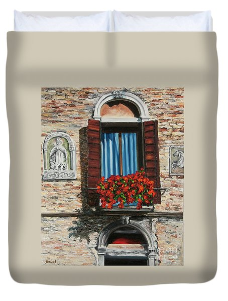 The Window Duvet Cover by Charlotte Blanchard