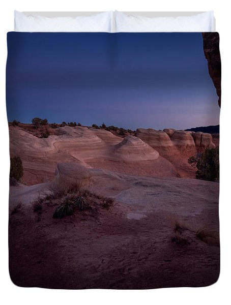 Duvet Cover featuring the photograph The Window In Desert by Edgars Erglis