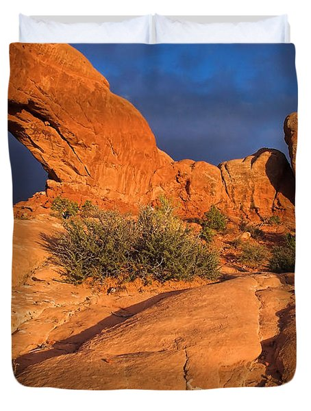 Duvet Cover featuring the photograph The Window by Steve Stuller