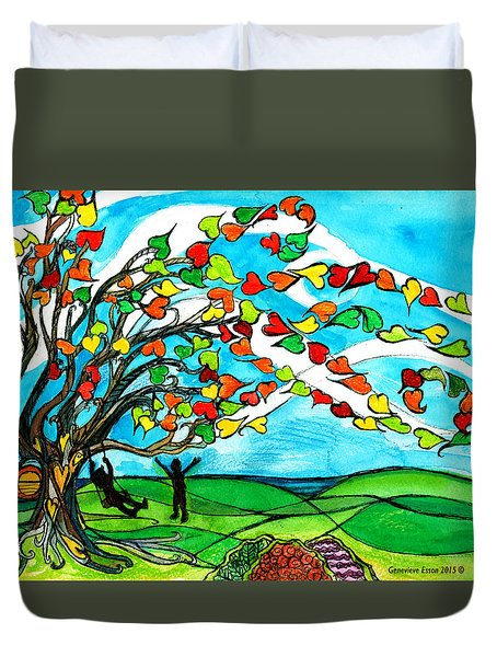 The Windy Tree Duvet Cover by Genevieve Esson