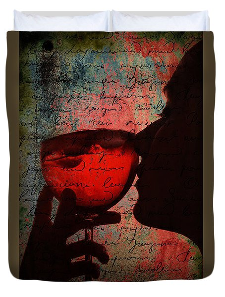The Wine Diaries Duvet Cover by Greg Sharpe