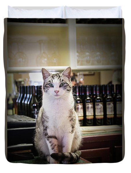 The Winery Cat Duvet Cover