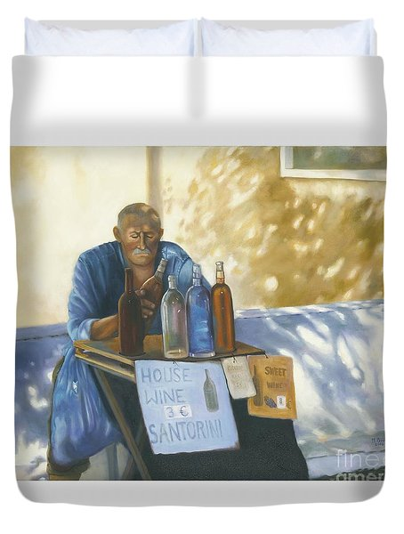 The Wineseller Duvet Cover by Marlene Book