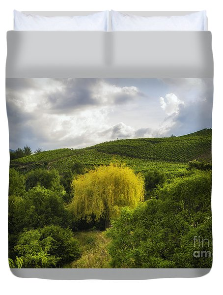 the wineyards of Loc Duvet Cover