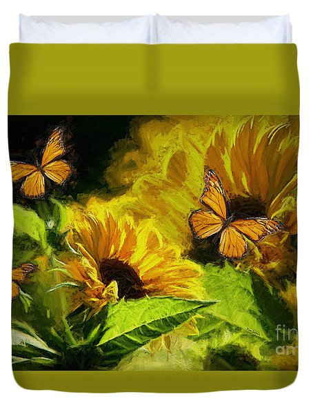 The Wings Of Transformation Duvet Cover