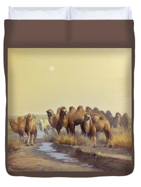 The Winter Of Desert Duvet Cover