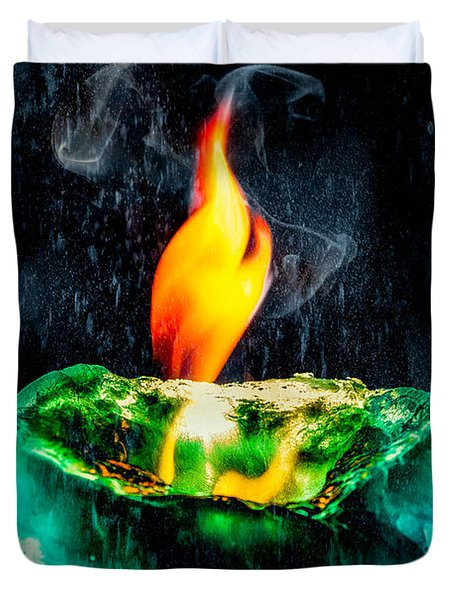 The Winter Of Fire And Ice Duvet Cover