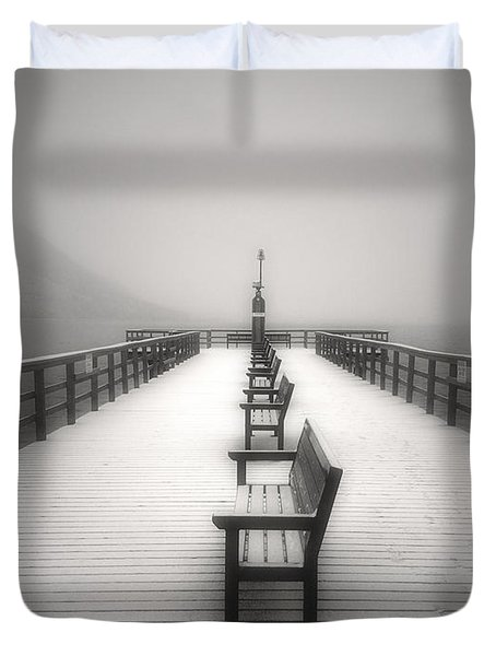 The Winter Pier Duvet Cover